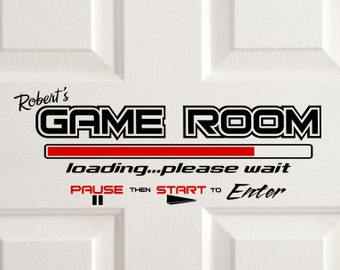 Gamer wall vinyl decal, game room decal, video game wall art, personlized video game decal, unique custom sticker for boys game room theme