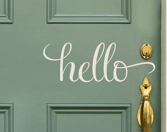 Hello Decal Hello Wall Decal Hello Sticker By Justthefrosting Hello Decal Vinyl Wall Decals Wall Decals