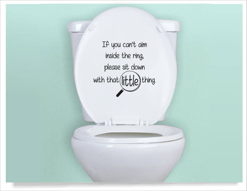 Toilet Decal Funny Sayings For Toilet Seat If You Sprinkle