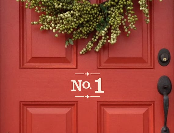 House number decal, door number decal address # sticker for home, apartment  number vinyl decal, mailbox street numbers, building number sign
