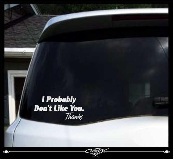 Funny car decal rude humor smartass decals cocky vinyl