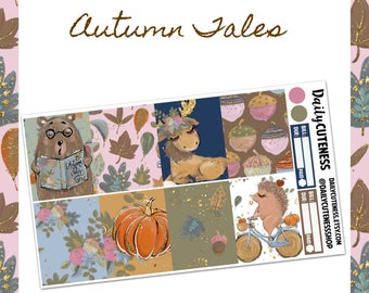 Autumn Tales Weekly Planner Sticker Kit // Perfect for Erin Condren,Happy Planner, Traveler's Notebook, Kate Spade,Recollections, Foxy Fix