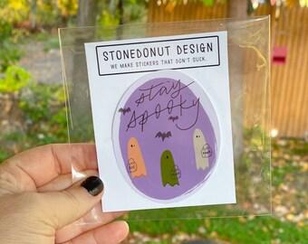 Stay Spooky Vinyl Sticker Decal by stonedonut design