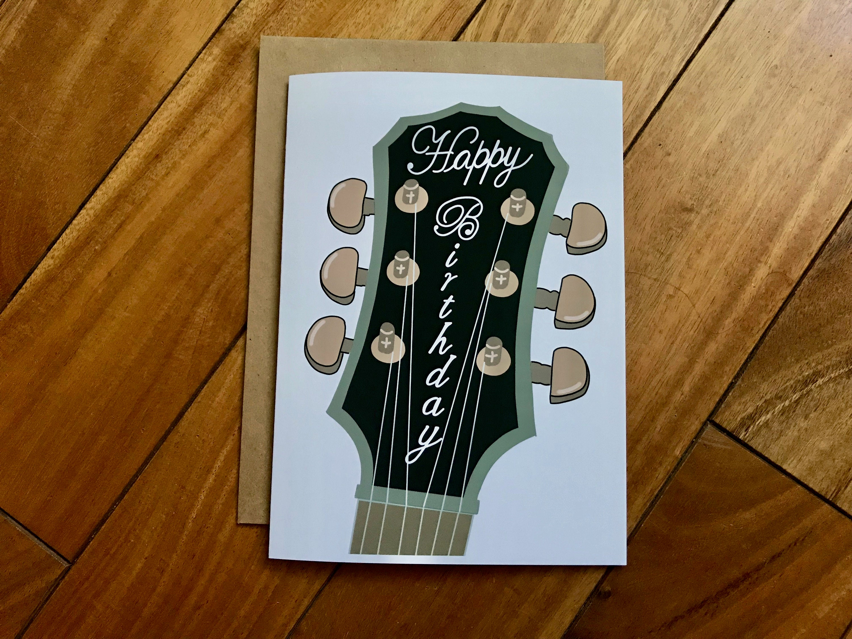 Guitar Birthday By Stonedonut FREE SHIPPING Handmade