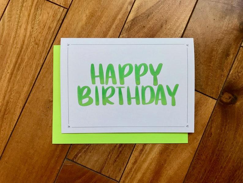 Simple Happy Birthday Card By Stonedonut Fun