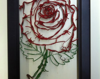 Rose, Wire Rose, Barbed Wire Rose, Floral Decor,