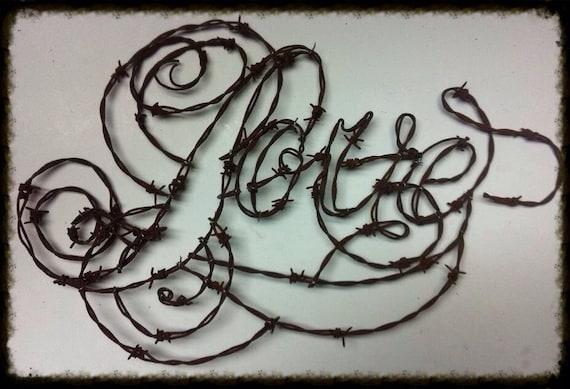 Liebe Worte Briefe Draht Buchstaben Draht Wörter Hoffnung | Etsy