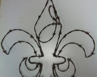 Fleur De Lis, initial, Monogram, Lilly, Flower, Rose, Garedn Art, Kitchen, Saints Logo, Saints, New Orleans, French, NFL, Design, Symbol,
