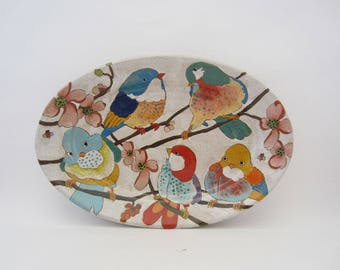 Flowers, Birds, & Berries Large Oval Platter