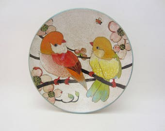 Flowers, Birds & Berries Small Serving Bowl