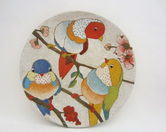Flowers Birds and Berries Dinner Plate
