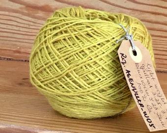 Vintage portuguese Wool Yarn, Yellow, 100gr 3.5oz or 50gr 1.7oz balls of yarn