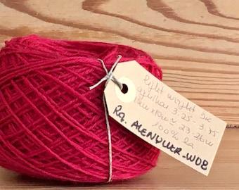 Vintage portuguese Wool Yarn, Red, 100gr 3.5oz or 50gr 1.7oz balls of yarn
