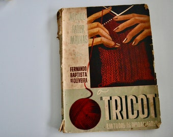 Método de fazer malha - Vintage portuguese knitting book