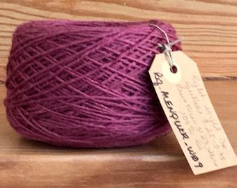 Vintage portuguese Wool Yarn, dark Pink, 100gr 3.5oz or 50gr 1.7oz balls of yarn