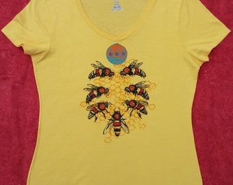 Women's V-Neck HoneyBee T-Shirt