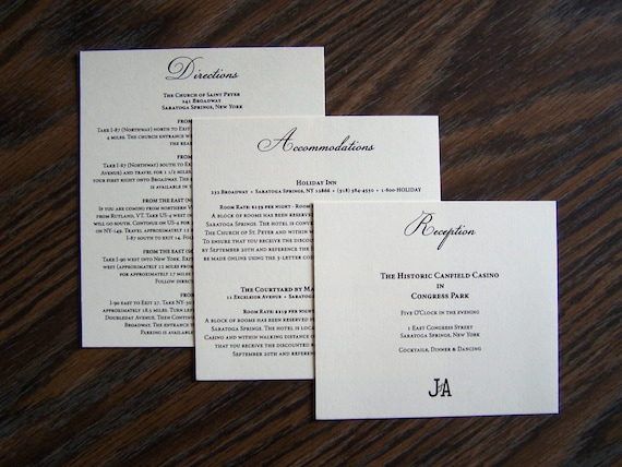 Inserts For Wedding Invitations: Items Similar To Wedding Invitation Inserts