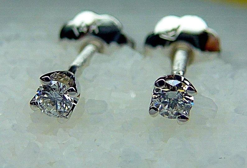 bae8838aedb4 Aretes con diamantes Genuinos De Alta Calidad G-VS En Oro