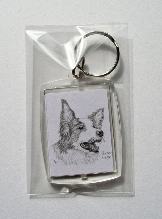 Border Collie Keyring Dog Gift//Present Sheepdog