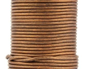 Xsotica® Bronze Metallic Round Leather Cord 1mm 100 meters 109 yards