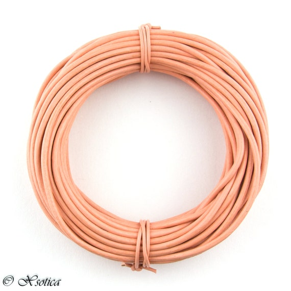 Xsotica® Turquoise Round Leather Cord 1.5mm 10 meters 11 yards