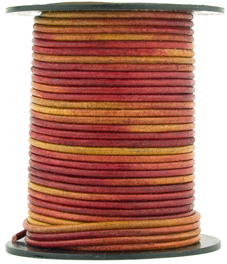 Xsotica® Gypsy Irasa Natural Dye Round Leather Cord 1.5mm 10 meters 11 yards