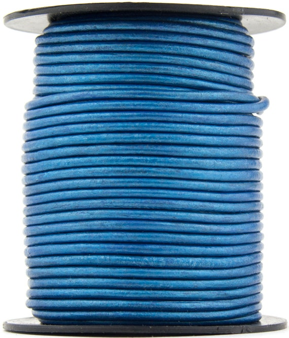 27 yards Xsotica® Royal Blue  Natural Dye Round Leather Cord 1.0mm 25 meters