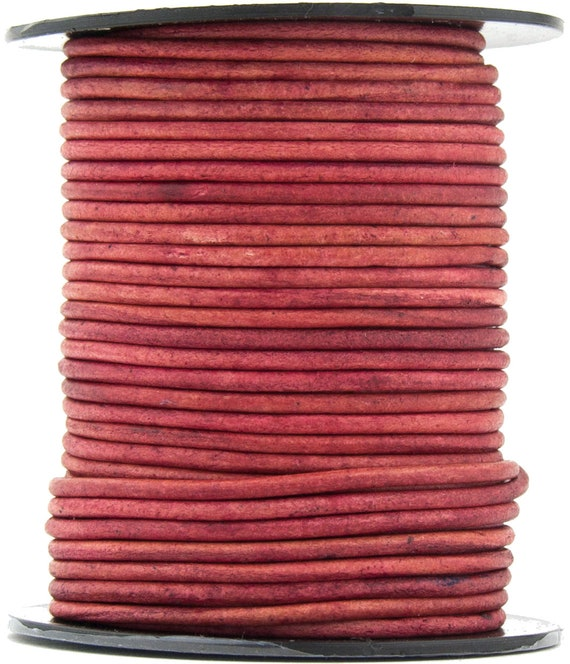 Pink Round Leather Cord 1.5mm 11 yards 10 meters