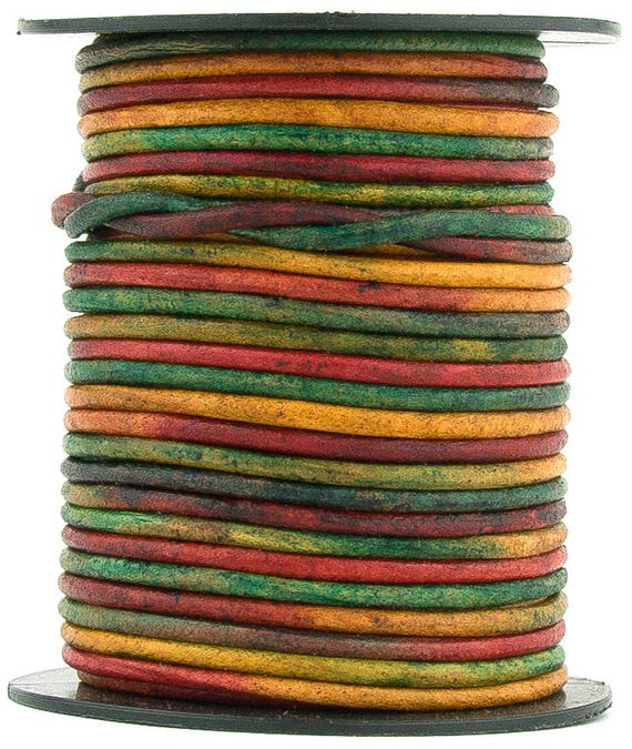 Xsotica® Kinte Gypsy Natural Dye Round Leather Cord 2mm 10 meters 11 yards