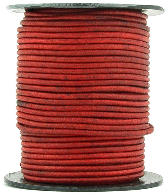 11 yards Xsotica® Orange Natural Dye Round Leather Cord 2mm 10 meters