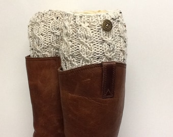 READY TO SHIP Women Knit  Boot Cuffs, Women Knit Boot Toppers, Stockings. Boot accesory, Leg Warmer, Textured and Stretchy, boot cuff