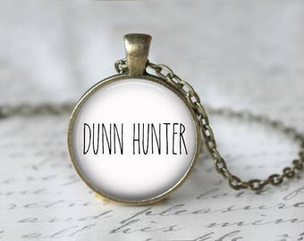 DUNN HUNTER Pendant Necklace, Rae Dunn Inspired Jewelry