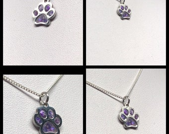 Cremation Ashes Memorial Dog Paw Cat Paw Necklace. Keepsake Jewelry. Ashes Jewellery