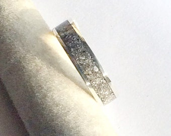 Beautiful Sterling Silver Inlaid with Cremation Ashes of a Beloved Pet Made To Order  -  Keepsake Cremation Ashes Jewellery