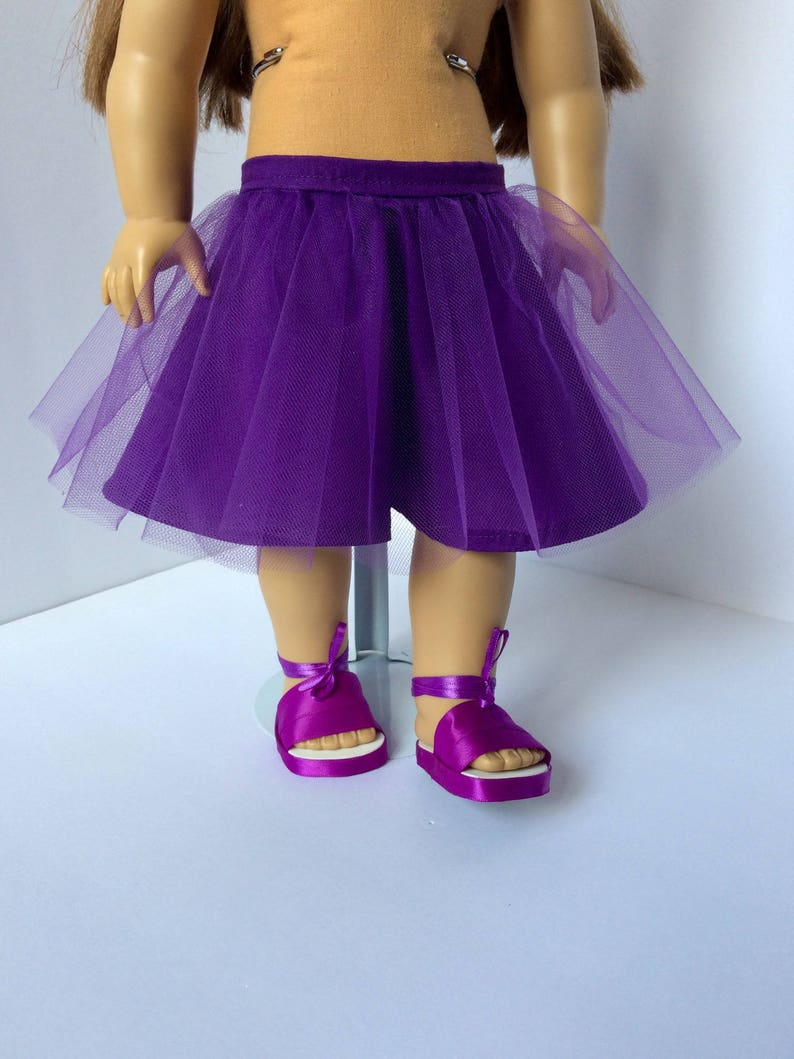 e301f99c21 American girl skirt. Purple tutu skirt and shoes. 18 inch doll | Etsy