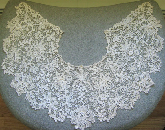 Victorian Wide Lace Collar, Vintage - image 5
