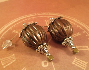 Hot Air Balloon Earrings/ Steampunk Balloon Earrings/Gifts for Her