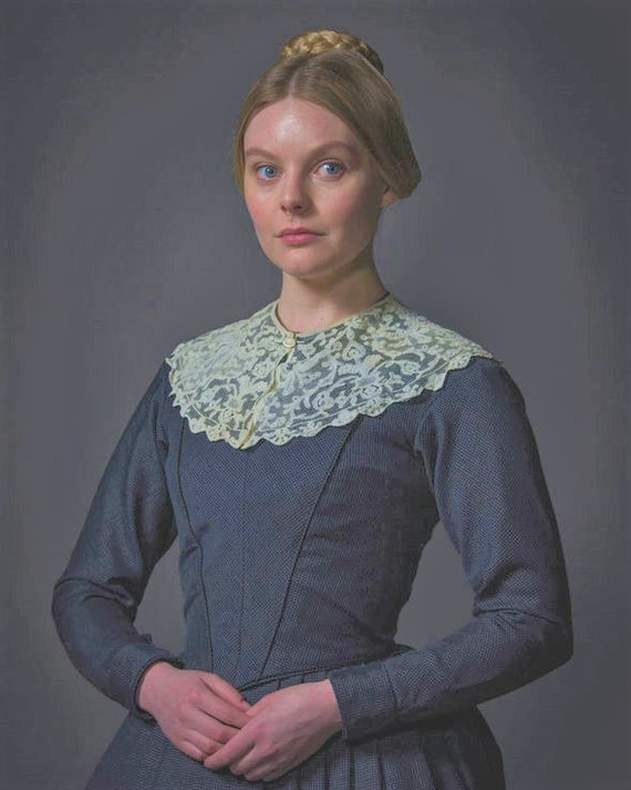 Victorian Wide Lace Collar, Vintage - image 2