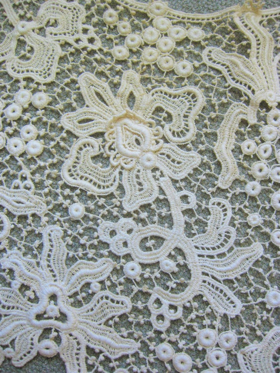 Victorian Wide Lace Collar, Vintage - image 8