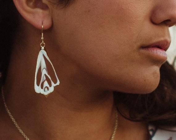Sliced Strombus Shell Earrings