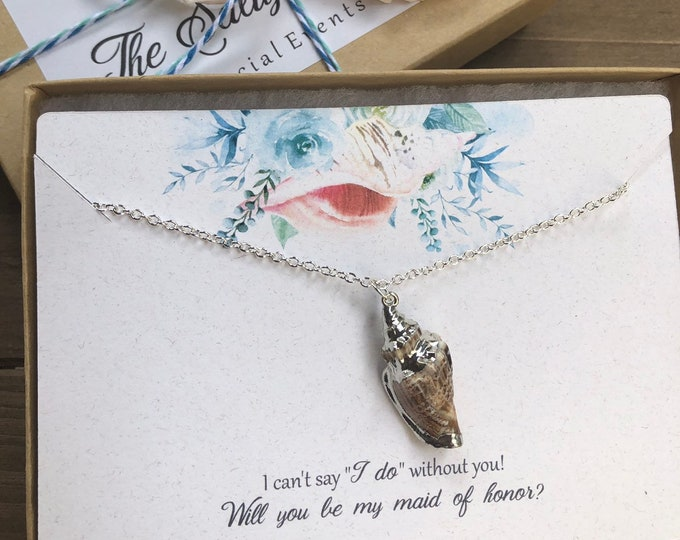 Maid of Honor Proposal Gift Necklace