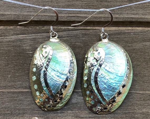Yellow Abalone Shell Earrings