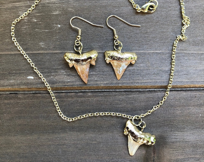 Shark Tooth Jewelry Set