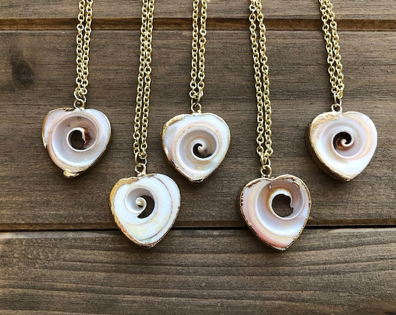 Heart Shaped Shell Necklace