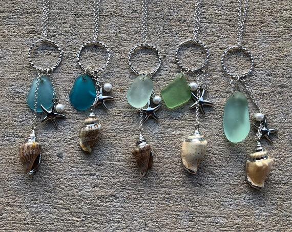 Starfish & Seaglass Necklace