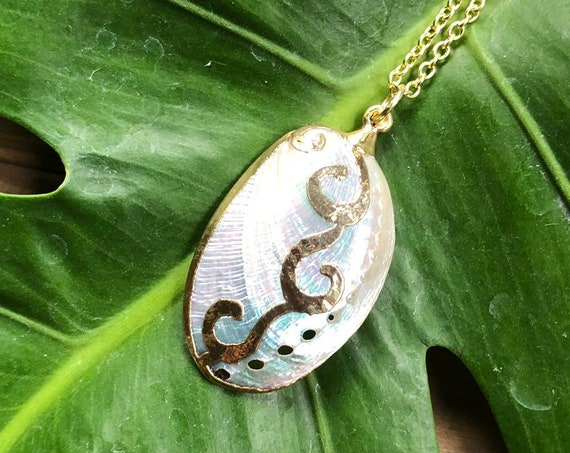 White Abalone Shell Necklace