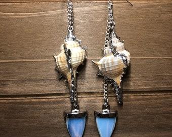 Moonstone Mermaid Earrings