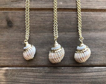 Small Seashell Necklace, Christmas Gift for Wife, Gift for Girlfriend, Gift Mom, Mermaid Jewelry, Beach Lover Gift, Holiday Gift for Her