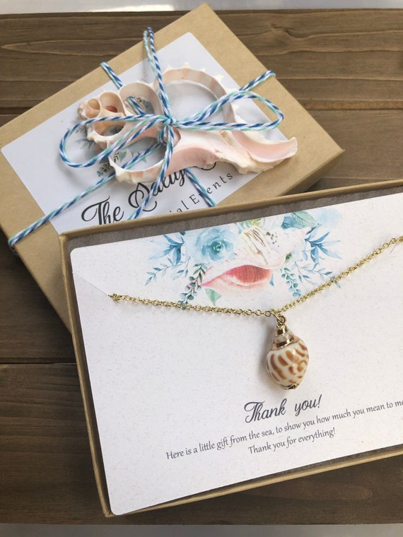 Thank You Gift Necklace, Bridal Party Thank You, Summer Wedding Party Jewelry, Beach Wedding Party Gift, Teacher Thank You, Coworker Gift