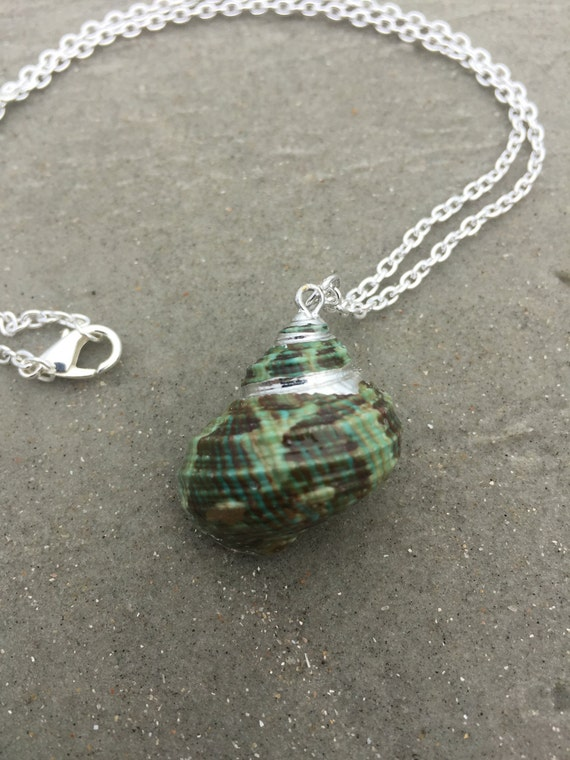 Green Turban Shell Necklace